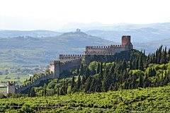 White wines in the medieval town of Soave