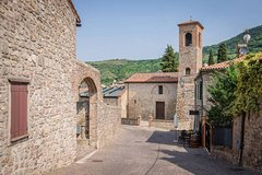 Castle, medieval village, olive oil mill, Venetian baroque garden private t