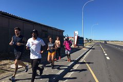 A jog in the township with locals