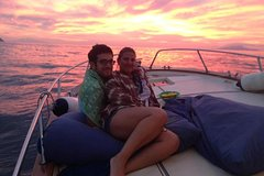 Sunset by boat from Sorrento
