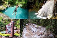 Montego Bay Cruise Ship- Dunns River Falls & Blue Hole Tour