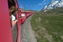 Tour to Bernina Express and Swiss Alps. Pick up from your hotel