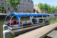 Canal tour Amsterdam (electric boat) including local skipper/guide