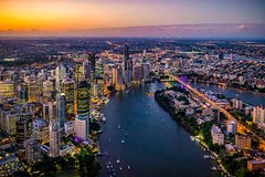 Brisbane City - Private Helicopter Sunset Flight - 20min