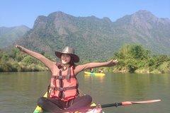 1 day Vang Vieng Cave & Kayak Explorer