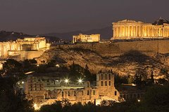 Athens Electric Bike tour by Night with Food and Refreshments