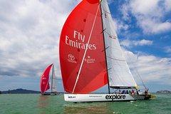 Imagen America's Cup Racing Cruise on Auckland's Waitemata Harbor