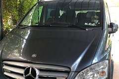 Private transfer with Mercedes-Benz Minivan from Sorrento to Amalfi or vice