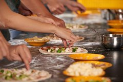 Private Pizza & Tiramisu Class at a Cesarinas home with tasting in Tivo