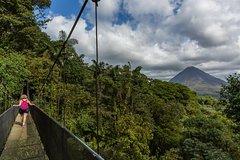 Hanging Bridges +La Fortuna Waterfall+ Arenal Volcano Hike Combo Experience