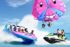 Gold Coast Parasail, Jet boat and 30min Jetski Safari Combo