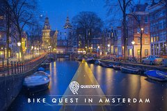 Bike Quest in Amsterdam for 5 persons - Mobile app Tour with Questcity