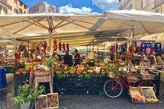 Walk and Taste - 15 Tastings in Campo de Fiori Market with Pizza Making Cla