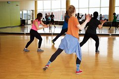 Fun zumbales full of dance styles such as salsa, merenque and bachata at Fit Flex Fun