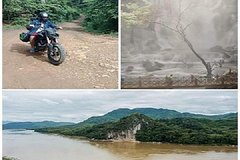 Pak Ou Cave & Kuang Si Fall with authentic Lunch by motorbike Tekken 250cc