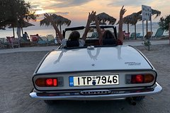 Classic Car Driving 3 hours by the sea transfer from and to Athens included