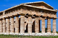 Paestum Temples, Bufala Mozzarella farm, Wine tasting in Cilento National P