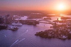 Private Sunset Helicopter Flight Over Sydney and Beaches for 3 - 30 Minutes