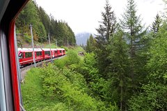 Bernina express and St. Moritz. Tour from Milan