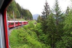 Bernina express and St. Moritz. Tour from Milan