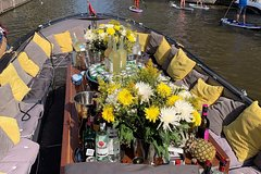 Amsterdam Red Light Party Boat!! Wine €1 ! Beer €1 With Glass Roof