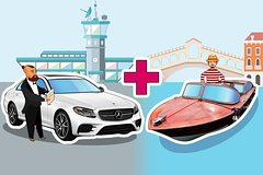 Private Departure Transfer Hotel to Venice Airport (VCE)  Car  Water Boat
