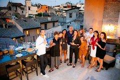 Creative Aperitivo overlooking the Roman rooftops