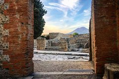 Pompeii And Vesuvius from Amalfi