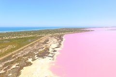 Pink Lake + Abrolhos Islands Scenic Flight (Coordinated Start Times)