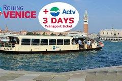 ACTV Transport & ROLLING VENICE CARD (6-29 yrs)