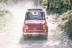 Private Half-Day FIAT 550 Vintage Tour Wine Tasting in Chianti