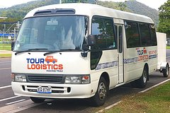 Premium, private bus transfer. Trinity Beach - Cairns Airport.