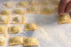 Mint and Ricotta Ravioli Private Virtual Cooking Class