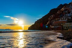 From Sorrento: Sunset in Positano by boat