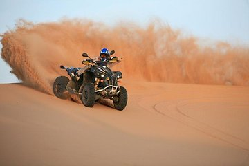 Best Dubai Desert Safari- Quad Biking & Dun Bashing & Sand Boarding with BBQ