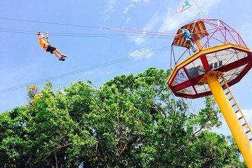 Rainforest Zipline in the El Yunque Foothills from San Juan