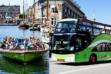 Copenhagen: Hop-on Hop-off Bus & Boat Tour with Tivoli