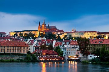 Prague by Night Walking Tour and Vltava River Cruise