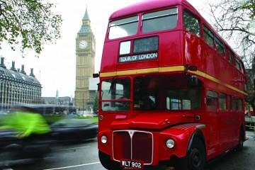 Vintage Bus Tour with London Eye + Cruise + Bus Tour