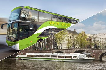 Amsterdam Hop-On Hop-Off Bus and Boat Combo 24 or 48 hours