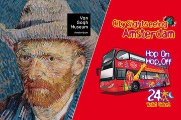 Amsterdam Super Saver: Van Gogh Museum & City Sightseeing Hop-On Hop-Off Bus