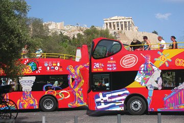 Athens Hop-On Hop-Off Red Bus with Piraeus and Beach Rivera