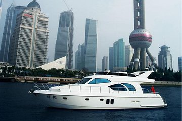Shanghai Yacht Experience on Huangpu River with Refreshments