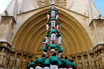 UNESCO Human Tower Tour with Food and Wine Tasting in Barcelona