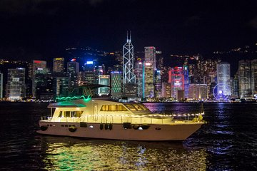 Victoria Harbour Night Hop-on Hop-off Yacht Cruise - DREAMER