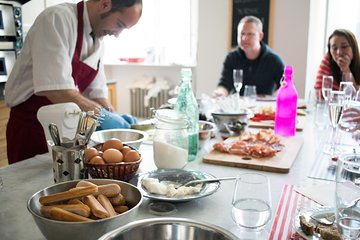 Farmers Market Shopping, Four Courses Cooking Class with Pasta Making