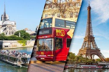 Eiffel Tower Skip the Line Summit Access, Big Bus Day Pass & Seine River Cruise
