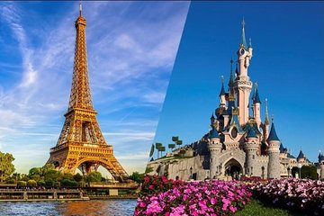 Eiffel Tower Skip the Line Summit Access & Disneyland Paris 1 Park Ticket