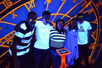 Prague Black Light Mini Golf and Games Tour Including Free Drinks