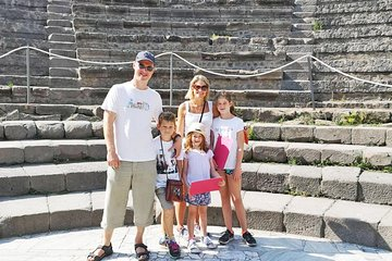 Rome to Pompeii Tour for Kids & Families w Hotel Pickup & Skip-the-Line Tickets